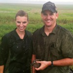 nicole doss cpa and graduate from baylor university in texas with her ranger husband at thurman campbell group shoot and shank