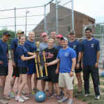 thurman campbell group are the winning champs of clarksville young professionals kickball tournement