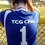 family is always first! Michael Wallace, partner and cpa daughter is wearing a shirt sponsored by tcg, plc