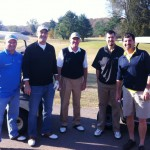 jeff burkhart standing at clarksville country club enjoying time with the staff at thurman campbell group accounting firm