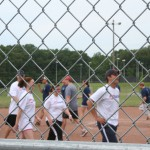 thurman campbell and us bank participate in a softball event for businesses in clarksville tn